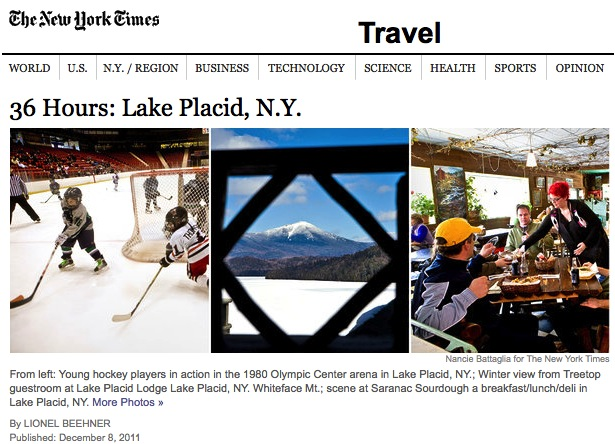 NY Times: Winter in Lake Placid